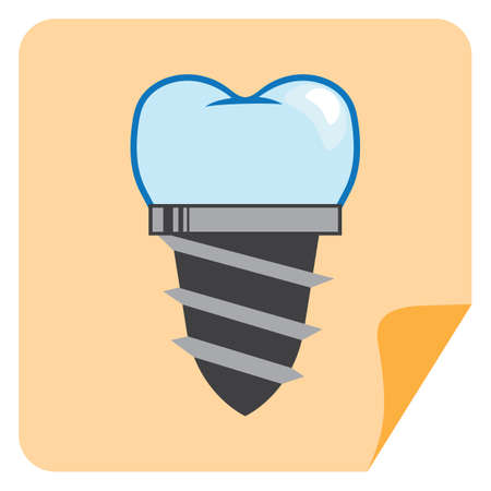 falso: tornillo en la dentadura diente postizo