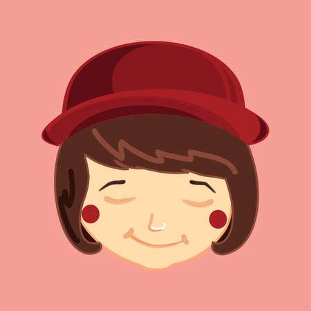 blushing: girl blushing