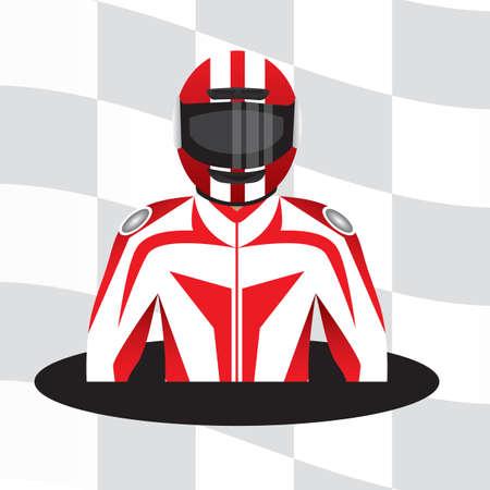 racer: racer with helmet Illustration