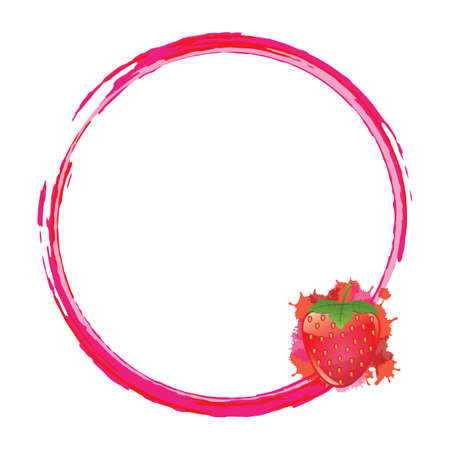 layout strawberry: frame with strawberry