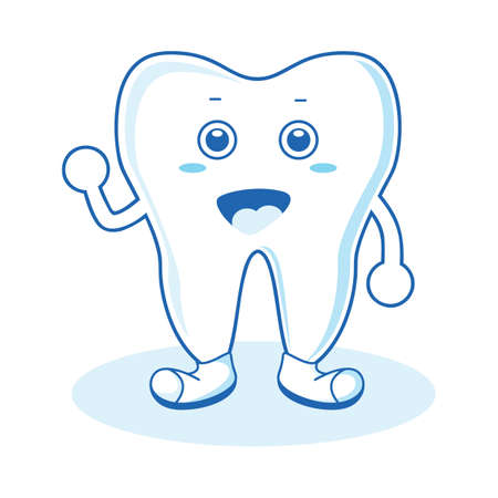 happy: happy tooth Illustration
