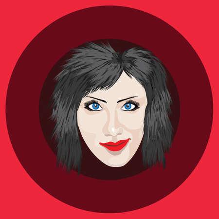hair style: female hair style Illustration