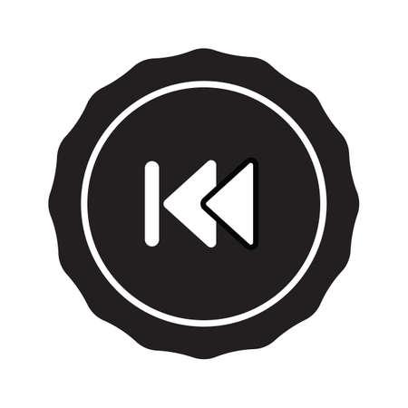backward: skip backward icon Illustration