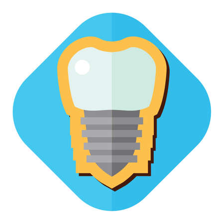 artificial teeth: tooth implant Illustration
