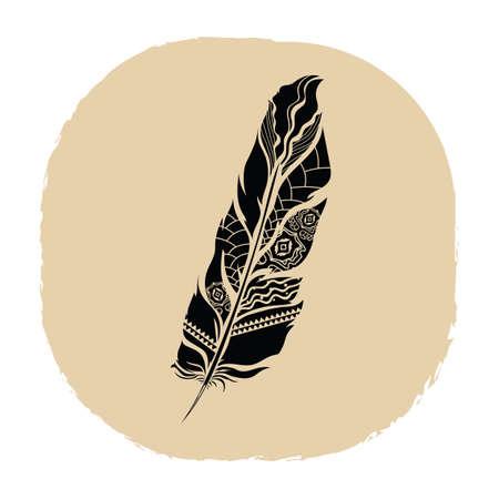 Plume tatouage Banque d'images - 53237016