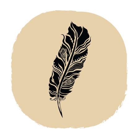 Plume tatouage Banque d'images - 53237021