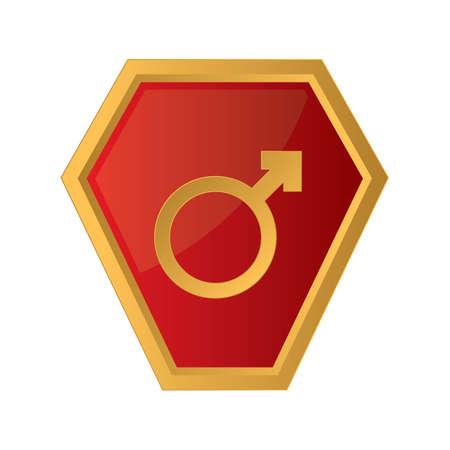 male symbol: male symbol button Illustration