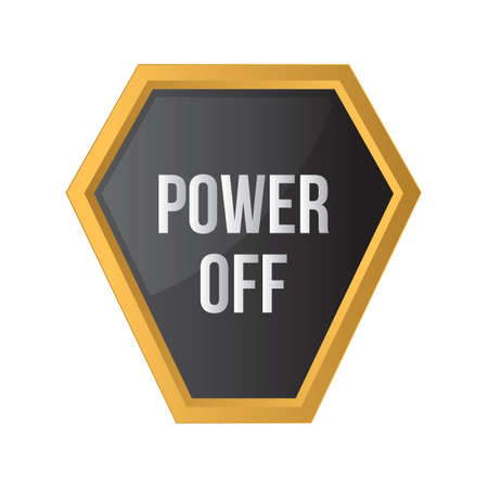 on off button: power off button