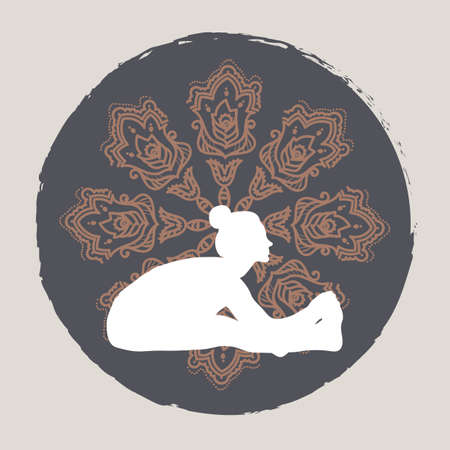 sit: sit up yoga Illustration