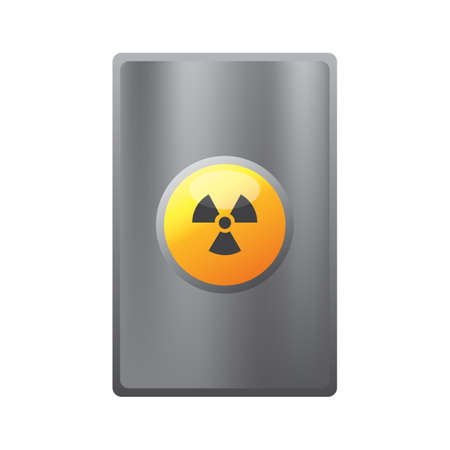 radioactive: radioactive button Illustration