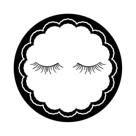 false eyelashes: false eyelashes Illustration