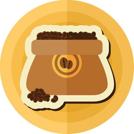 coffee sack: sack of coffee beans