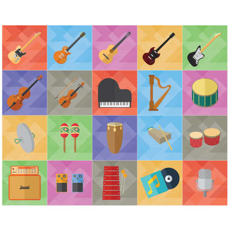 audio equipment: music instruments and audio equipment collection