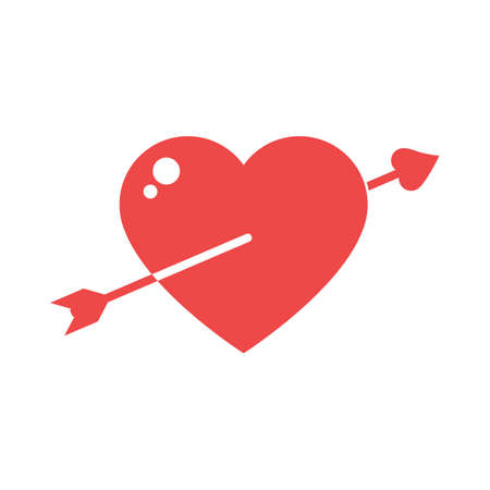 lovestruck: heart with an arrow