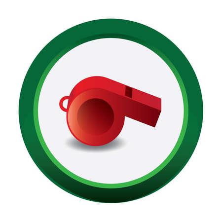 umpire: whistle Illustration
