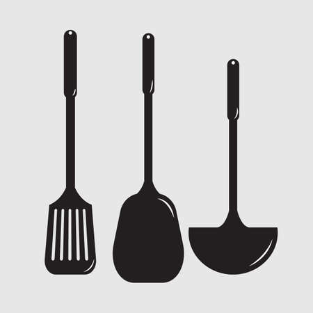 ladles: silhouette of cutlery