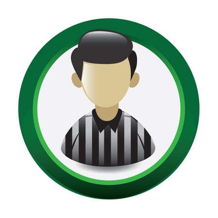 umpire: soccer referee Illustration