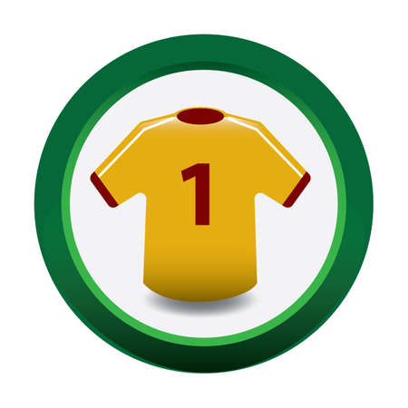 sports jersey: soccer jersey Illustration