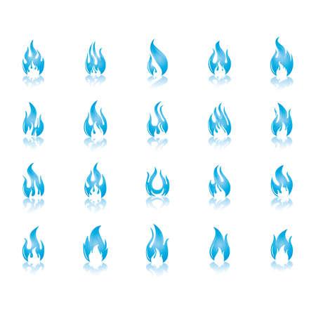 serie di fiamme di fuoco