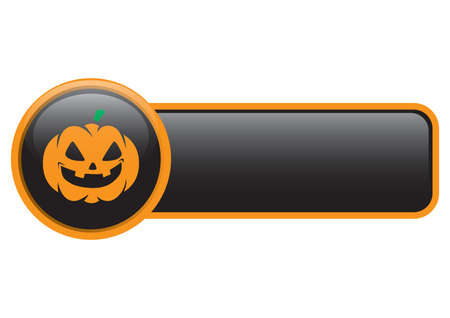 haunting: halloween pumpkin button Illustration