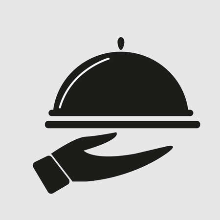 serving dish: silhouette of serving dish in hand