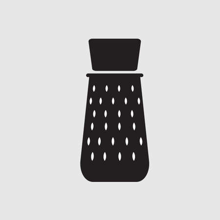 grater: silhouette of grater Illustration