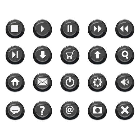 media buttons: set of media buttons