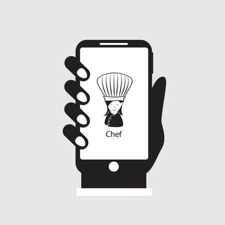 caller: calling chef on smartphone