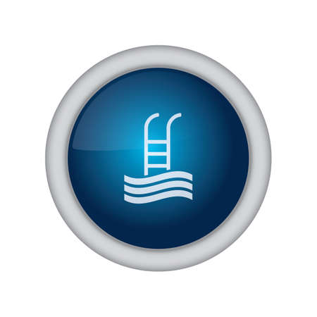 water sport: swimming pool button Illustration