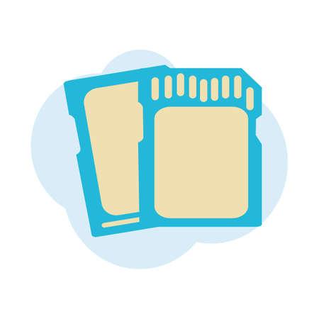 flash drive: flash drive Illustration