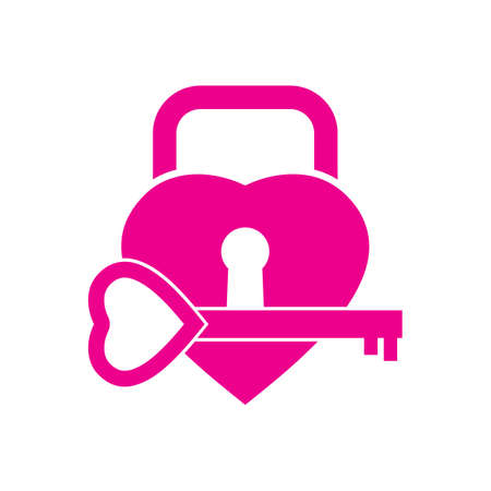 lock and key: heart lock and key