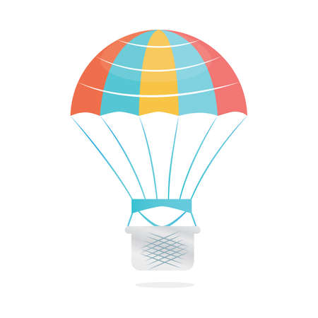 glide: parachute with basket