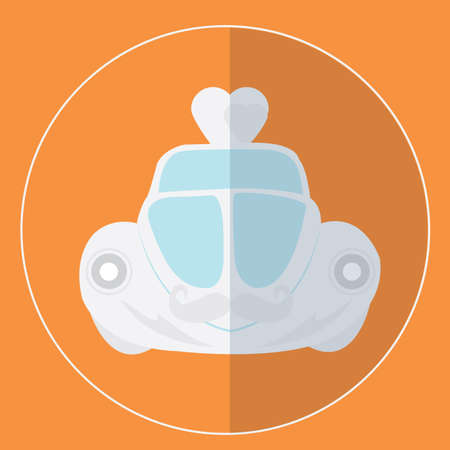 wedding: wedding car Illustration