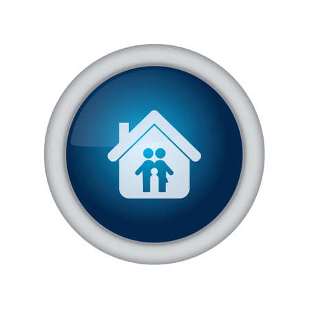 home button: home button with couple Illustration