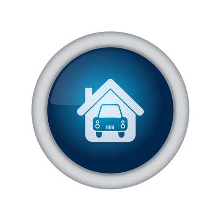 home button: home button with car