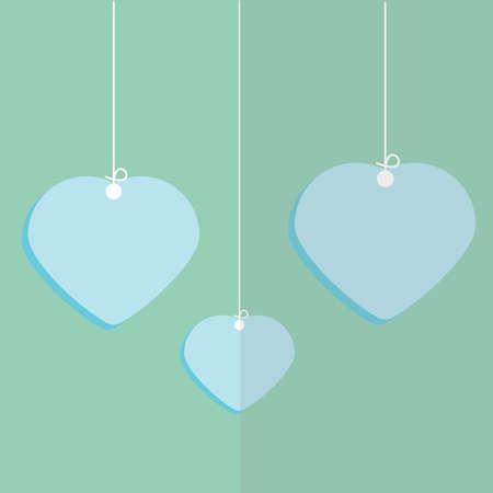 tag: heart tag Illustration