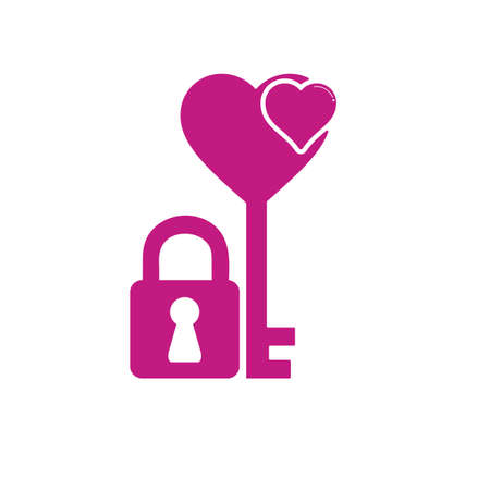 lock and key: heart lock with key