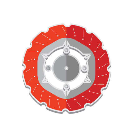 spare part: chain wheel Illustration