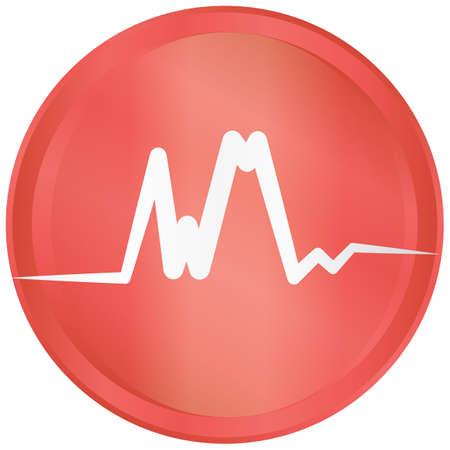sine: cardiogram Illustration