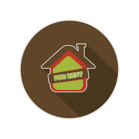 rent: house for rent Illustration