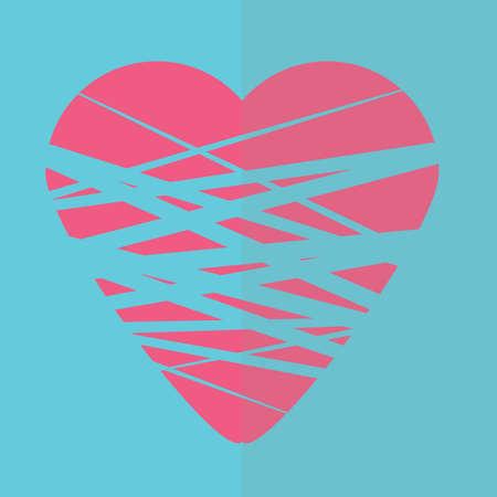 bound: heart bound in thread Illustration