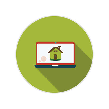 residences: laptop with house image Illustration
