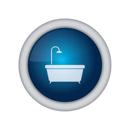 bath tub: bath tub button Illustration