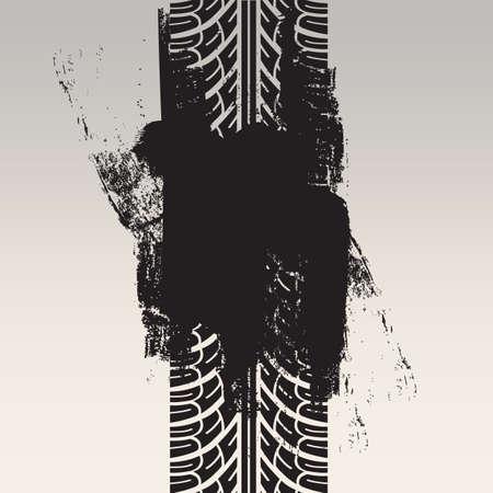 tyre track: tyre track background Illustration