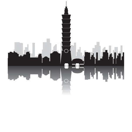 台北 101  イラスト・ベクター素材
