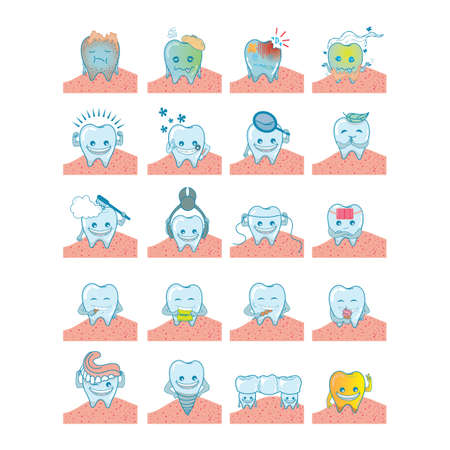 forceps: set of tooth Illustration