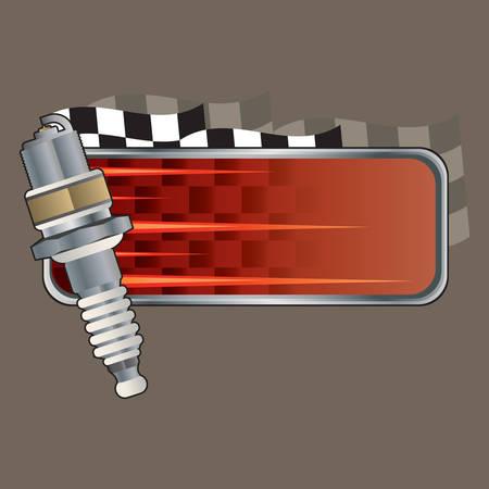 copy: spark plug with copy space Illustration
