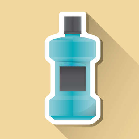 mouthwash: etiqueta de enjuague bucal