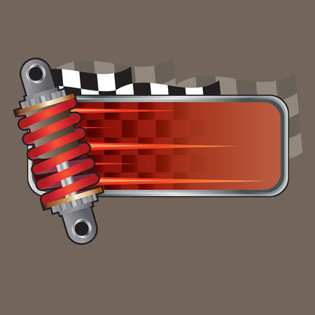 shock absorber: shock absorber with copy space