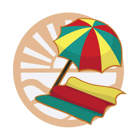 bamboo mat: beach umbrella